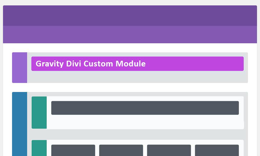 Customize New Gravity Divi Module